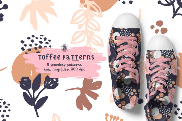 Toffee Patterns Grafik Muster von webvilla