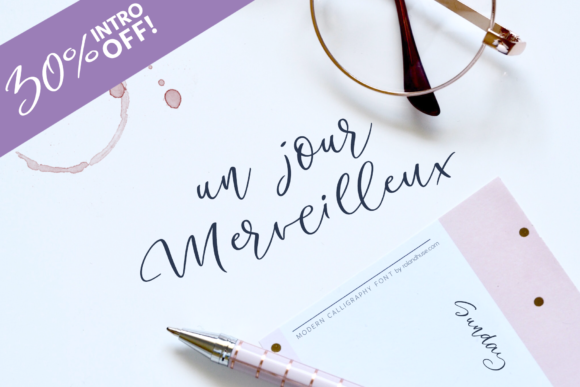 Print on Demand: Un Jour Merveilleux Script & Handwritten Font By Roland Hüse Design