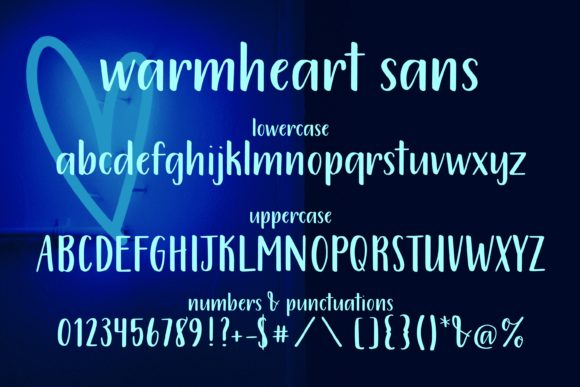 Print on Demand: Warmheart Script & Handwritten Font By 212 Fonts - Image 7
