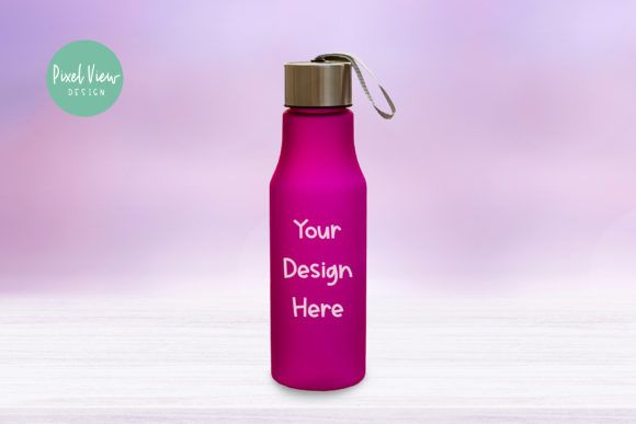Download Free Water Bottle Mockup Graphic By Pixel View Design Creative Fabrica for Cricut Explore, Silhouette and other cutting machines.