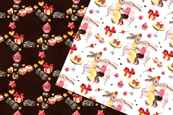 Watercolor Chocolate Digital Paper Graphic Patterns By NataliMyaStore - Image 4