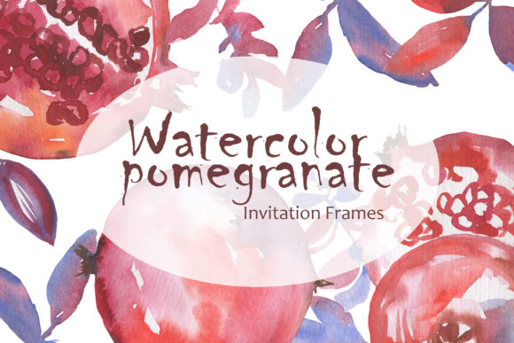 Print on Demand: Watercolor Pomegranate Graphic Illustrations By laffresco04