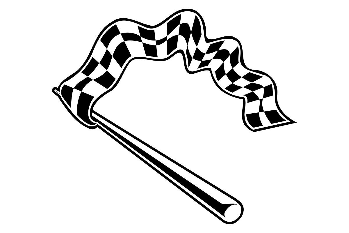 Download Free Waving Checkered Racing Finish Flag Graphic By Sayapperisai for Cricut Explore, Silhouette and other cutting machines.
