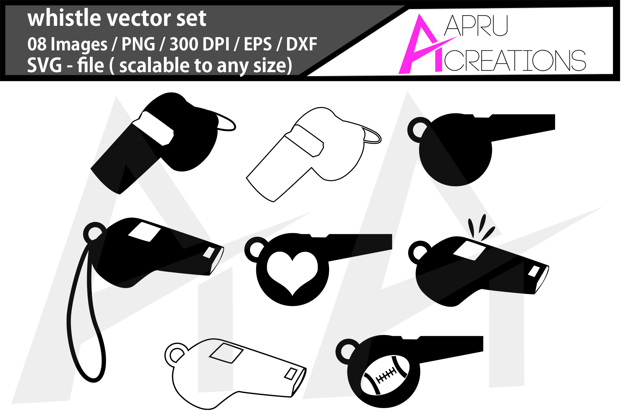 Download Free Whistle Silhouette Whistle Graphic By Aparnastjp Creative Fabrica for Cricut Explore, Silhouette and other cutting machines.