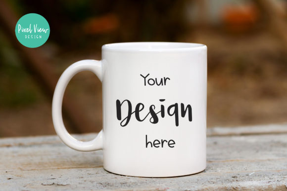 Print on Demand: White Coffee Mug Mock-Up Graphic Product Mockups By Pixel View Design