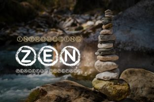 Print on Demand: Zen Circle Display Font By KtwoP