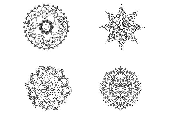 Download Free 4 Mandalas Para Colorear Acmoladesign Graphic By Ana Carmen for Cricut Explore, Silhouette and other cutting machines.