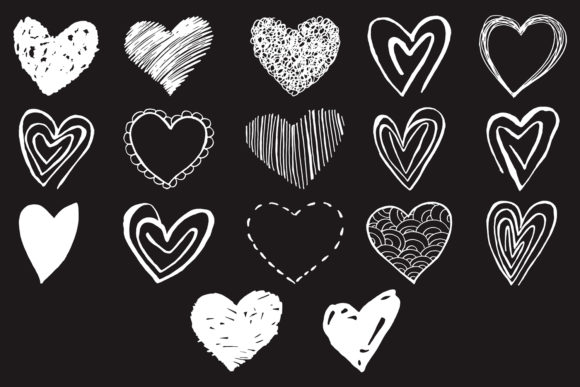 Print on Demand: 15+ Handmade Heart Cliparts Graphic Illustrations By Creative Tacos - Image 3