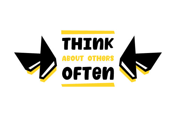 Think About Others Often Awareness Craft Cut File By Creative Fabrica Crafts