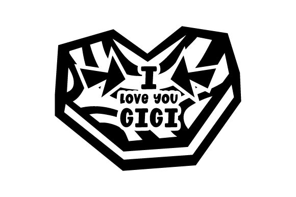 Download Free I Love You Gigi Svg Cut File By Creative Fabrica Crafts for Cricut Explore, Silhouette and other cutting machines.