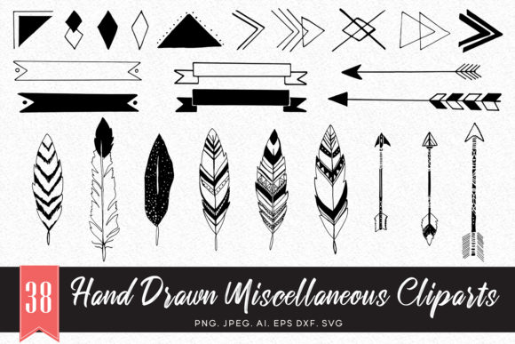 Print on Demand: 35+ Handmade Miscellaneous Cliparts Graphic Illustrations By Creative Tacos