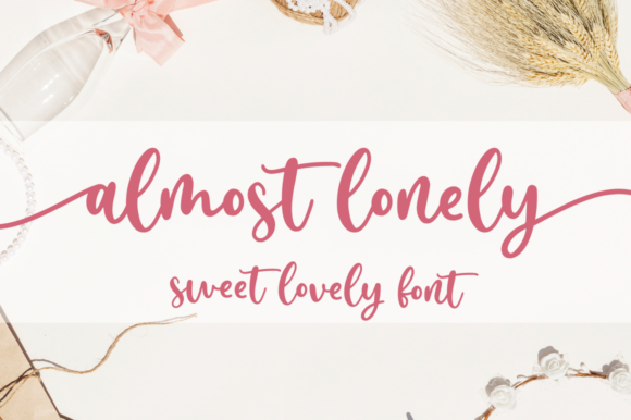 Print on Demand: Almost Lonely Script & Handwritten Font By Sronstudio