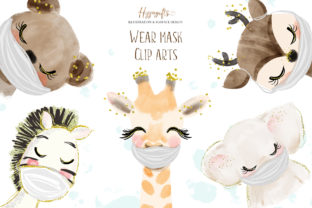 Animals Wear Masks Illustrations Graphic Illustrations By Hippogifts