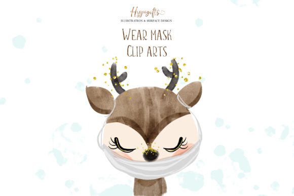 Download Free Animals Wear Masks Illustrations Graphic By Hippogifts for Cricut Explore, Silhouette and other cutting machines.