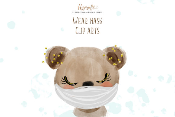 Download Free Animals Wear Masks Illustrations Grafik Von Hippogifts for Cricut Explore, Silhouette and other cutting machines.