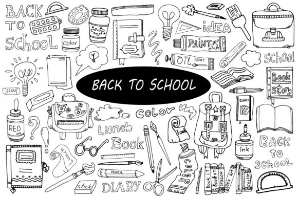 Print on Demand: Back to School Graphic Objects By VashaRisovasha