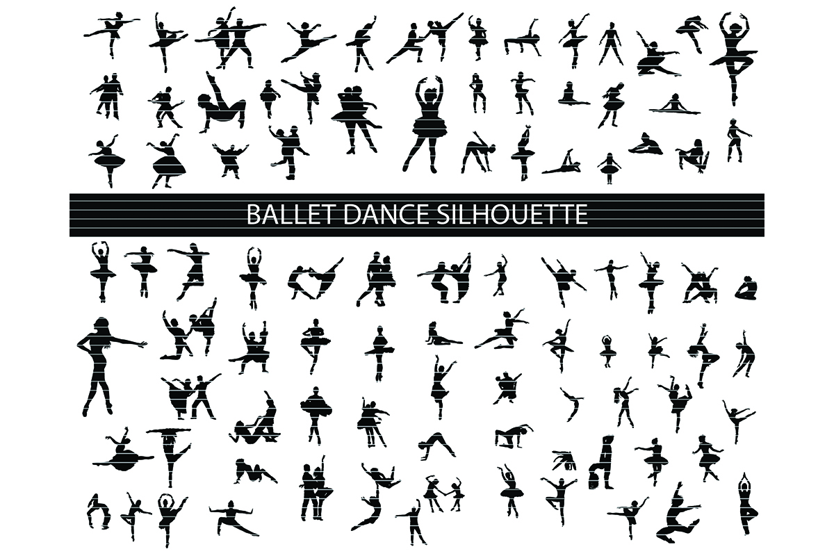 Download Free Ballet Dance Clip Art Bundle Graphic By Meshaarts Creative Fabrica for Cricut Explore, Silhouette and other cutting machines.