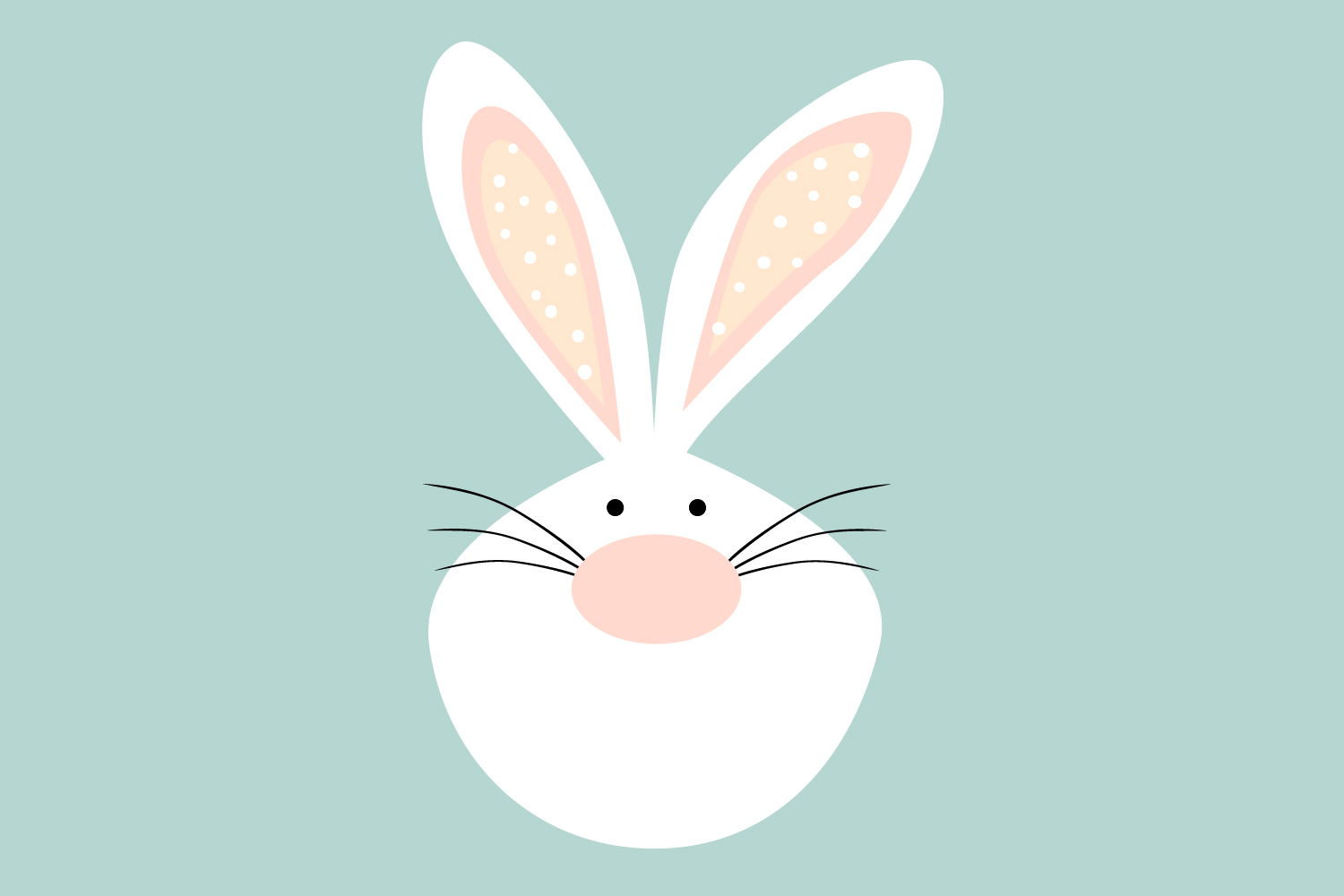 Download Free Bunny Face Easter Bunny Graphic By Igraphic Studio Creative for Cricut Explore, Silhouette and other cutting machines.