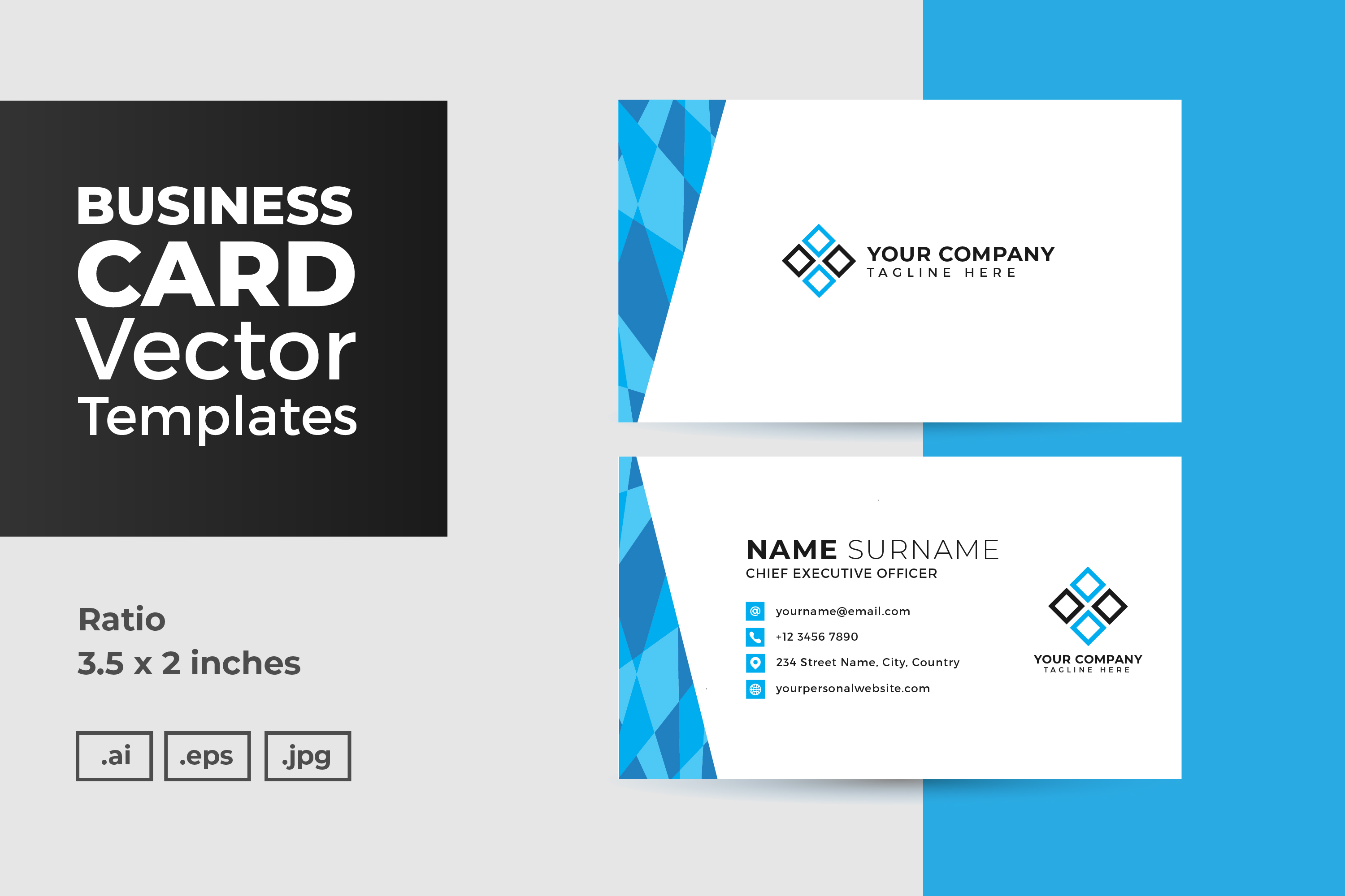 Download Free Business Card Vector Template Graphic By Dendysign Creative SVG Cut Files