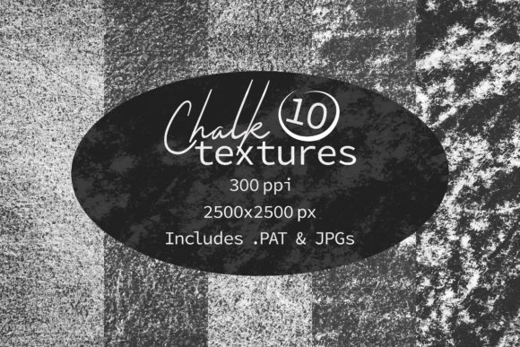 Print on Demand: Chalk Texture Patterns Graphic Textures By OA Design