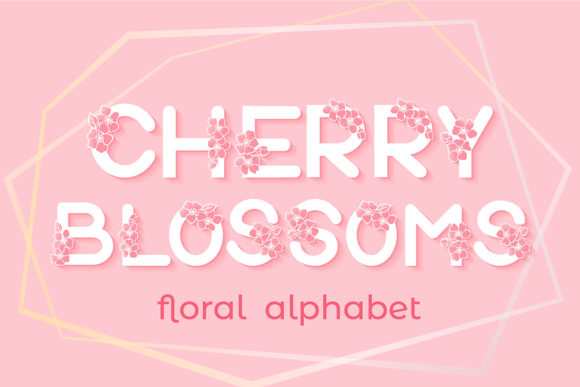 Print on Demand: Cherry Blossoms Alphabet Graphic Crafts By tatiana.cociorva