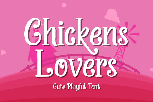 Print on Demand: Chickens Lovers Display Font By almarkhatype
