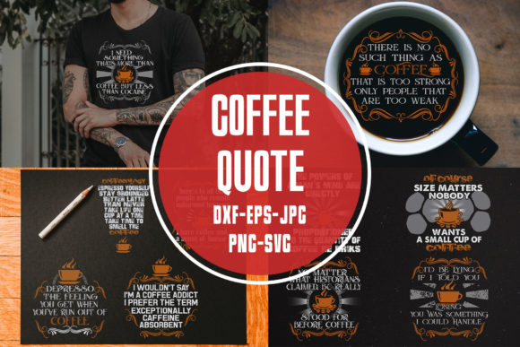 Download Free Coffee Quotes Cricut Vol 2 Graphic By Tosca Digital Creative SVG Cut Files