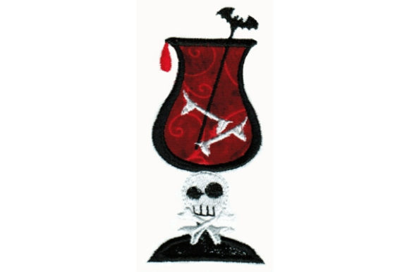 Creepy Cocktail Halloween Embroidery Design By Sue O'Very Designs