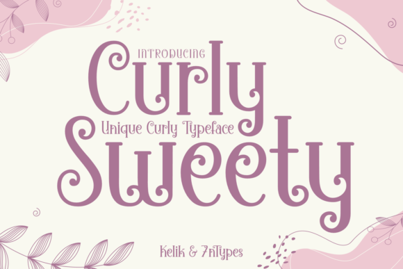 Print on Demand: Curly Sweety Display Font By Kelik - 7NTypes