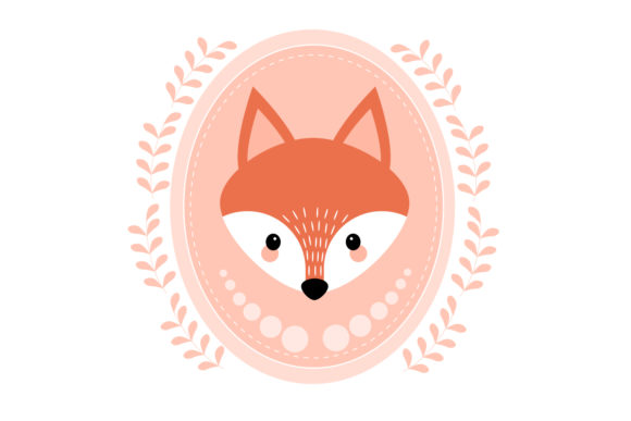 Download Free Cute Fox Face Fox Poster Graphic By Igraphic Studio Creative for Cricut Explore, Silhouette and other cutting machines.