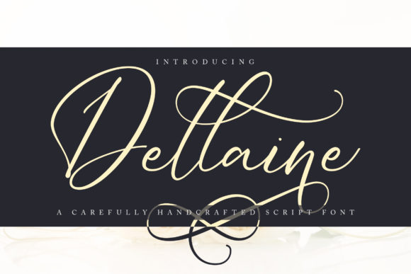 Print on Demand: Dellaine Script & Handwritten Font By Vunira