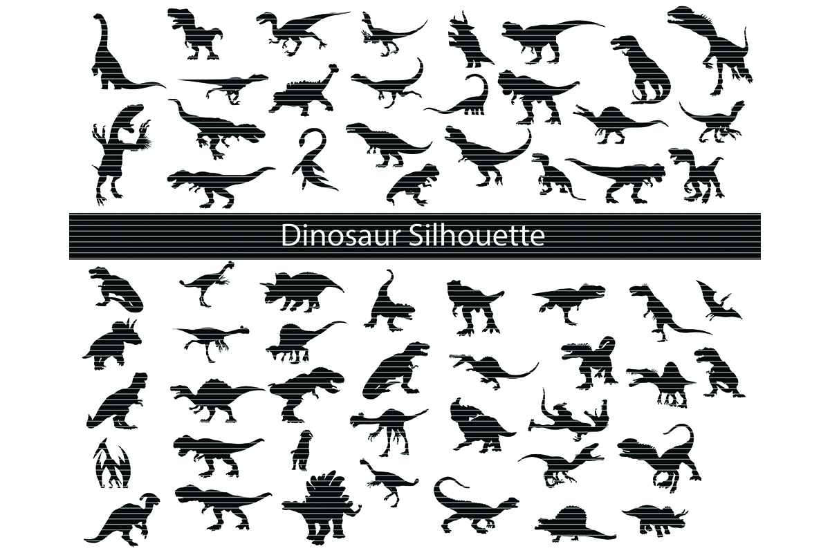 Download Free Dinosaur Clip Art Bundle Graphic By Meshaarts Creative Fabrica for Cricut Explore, Silhouette and other cutting machines.