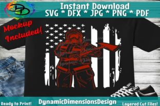 Download Free Distressed Firefighter Flag Graphic By Dynamicdimensions for Cricut Explore, Silhouette and other cutting machines.