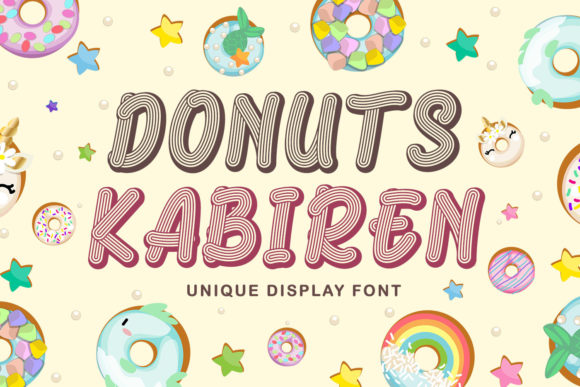 Print on Demand: Donuts Kabiren Display Font By Kotak Kuning Studio