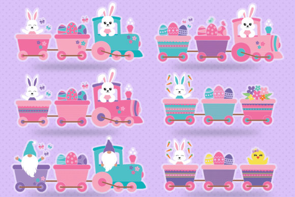 Download Free Easter Bunny In Train And Locomotive Graphic By All About Svg for Cricut Explore, Silhouette and other cutting machines.
