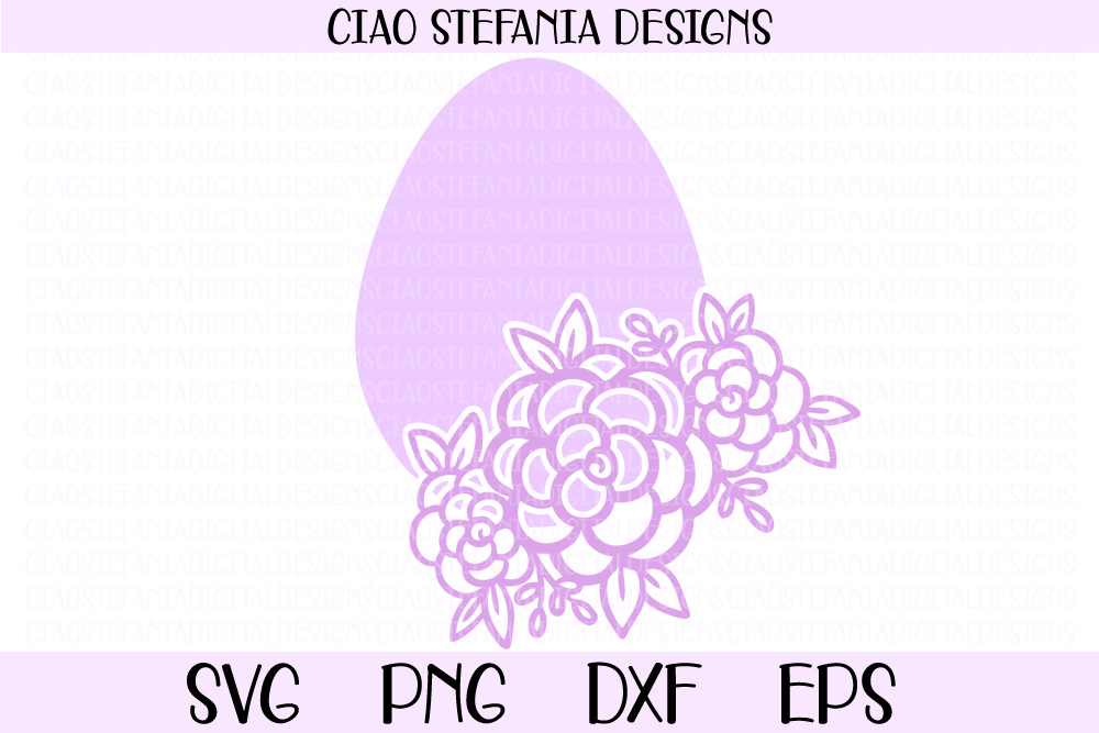 Easter Egg With Flowers Graphic By Ciaostefaniadigital