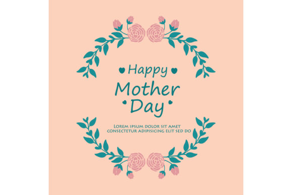 Download Free Elegant Frame For Happy Mother Day Graphic By Stockfloral for Cricut Explore, Silhouette and other cutting machines.