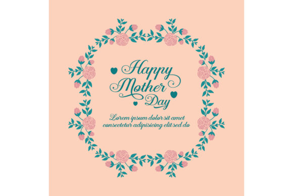 Elegant Happy Mother Day Greeting Card Graphic Backgrounds By stockfloral