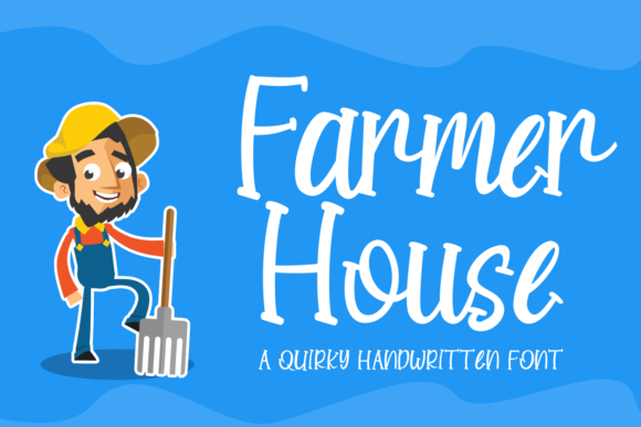Download Free Farmer House Font By Rvandtype Creative Fabrica for Cricut Explore, Silhouette and other cutting machines.