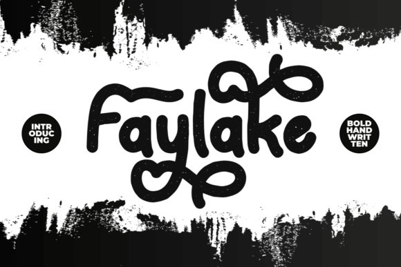 Print on Demand: Faylake Display Font By putracetol