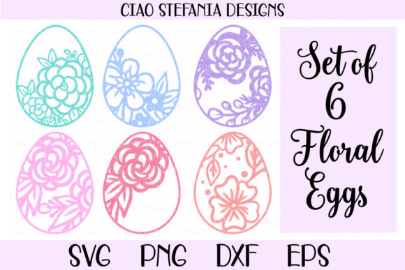 Download Free Floral Easter Egg Bundle Graphic By Ciaostefaniadigital for Cricut Explore, Silhouette and other cutting machines.
