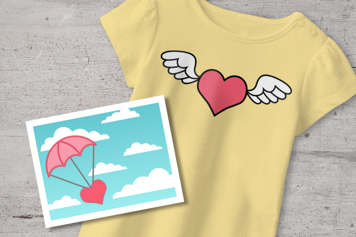 Download Free Flying Heart Valentine S Day Duo Graphic By Designedbygeeks for Cricut Explore, Silhouette and other cutting machines.