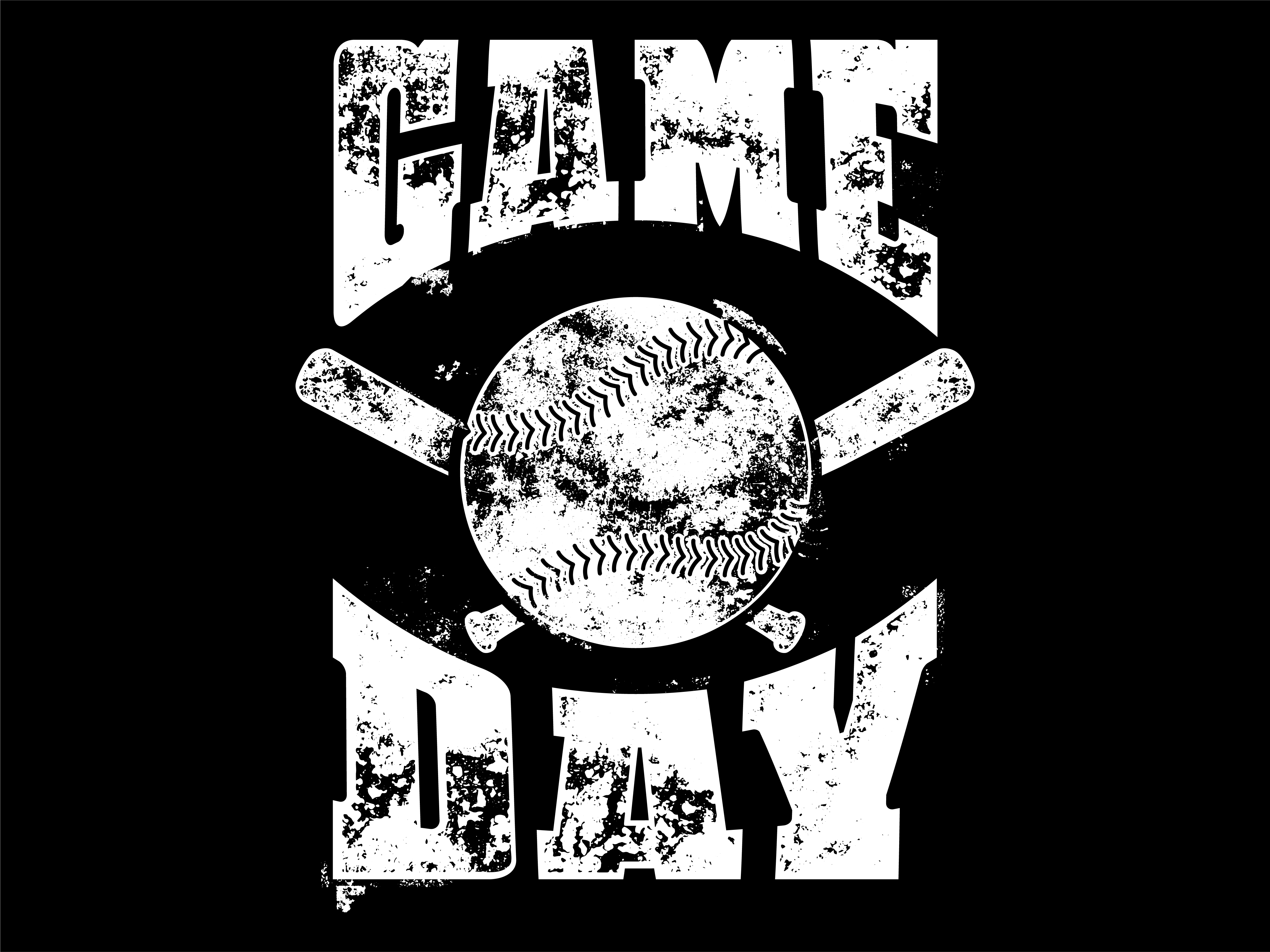 Download Free Game Day Baseball Graphic By Davgogoladze Creative Fabrica for Cricut Explore, Silhouette and other cutting machines.