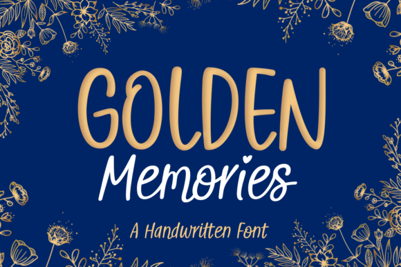 Print on Demand: Golden Memories Script & Handwritten Font By Situjuh