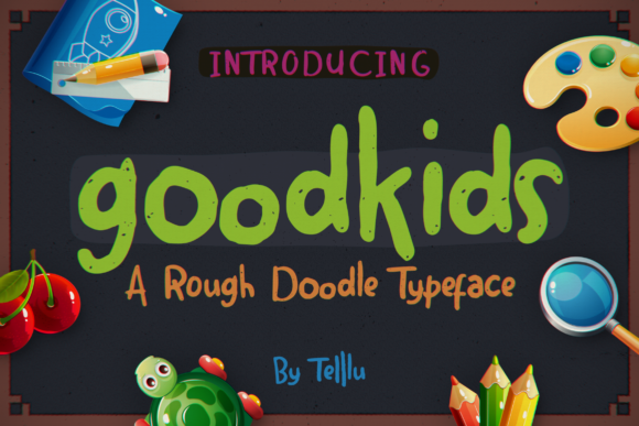 Download Free Goodkids Font By Telllu Creative Fabrica for Cricut Explore, Silhouette and other cutting machines.