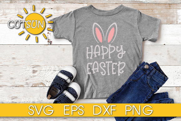 Download Free Happy Easter Bunny Ears Grafik Von Cutsunsvg Creative Fabrica for Cricut Explore, Silhouette and other cutting machines.