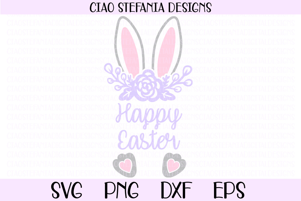 Download Free Happy Easter Bunny Ears Graphic By Ciaostefaniadigital for Cricut Explore, Silhouette and other cutting machines.
