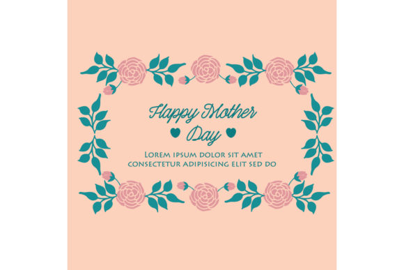 Happy Mother Day Card Template Design Graphic By Stockfloral
