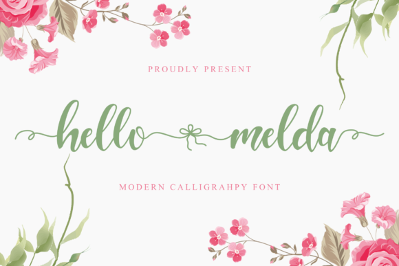 Download Free Hello Melda Font By Pandanwangi Creative Fabrica for Cricut Explore, Silhouette and other cutting machines.