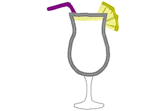 If You Like Pina Colada Wine & Drinks Embroidery Design By Sue O'Very Designs